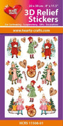 Hearty Crafts 3D Relief Stickers A4 - Christmas Children 1