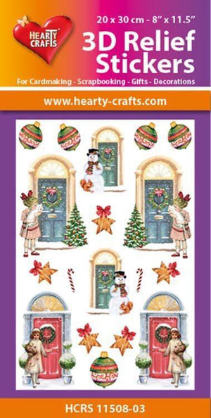 Hearty Crafts 3D Relief Stickers A4 - Christmas Doors