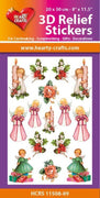 Hearty Crafts 3D Relief Stickers A4 - Little Angels
