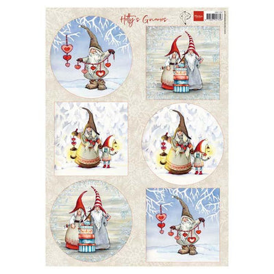 Marianne Design Cutting Sheet Hetty's Winter Gnomes