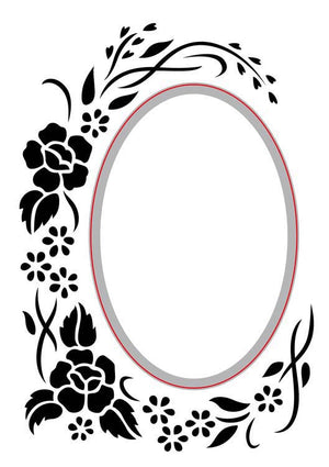 Nellie's Choice - Embossing/Die Cut Folder Oval Floral