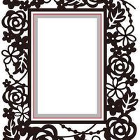 Nellie's Choice - Embossing/Die Cut Folder Rectangle Floral