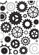Nellie's Choice - Hobby Solution Embossing Folders - Cogwheels