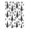 Hobby Solution Embossing Folder Christmas Pine Trees & Snowflakes