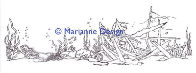 Marianne Design Clear Stamp: Hetty's Border - Underwater