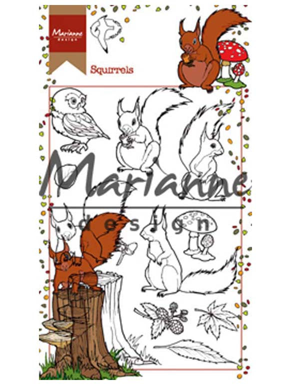 Marianne Design Stamps Hetty's Squirrels