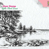Nellie's Choice Clear Stamp Idyllic Floral Scenes - Water's Edge