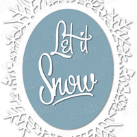 Dee's Distinctively Dies - Let It Snow Frame