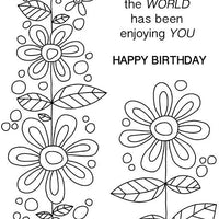 Woodware Clear Stamps - Daisy Chain