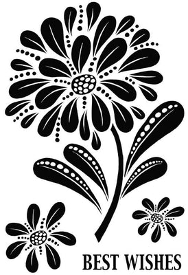 Woodware Clear Stamps - Bold Blooms - Helen