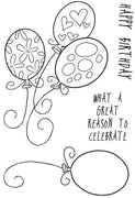 Woodware Clear Stamps - Birthday Balloons