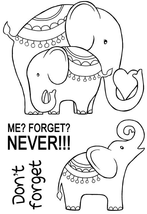 Woodware Clear Stamps - Elephant Love