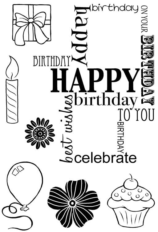 Woodware Clear Stamps - Birthday Grid