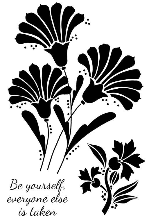 Woodware Clear Stamps - Fan Flowers