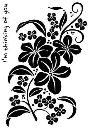 Woodware Clear Stamps - Magnolia Spray