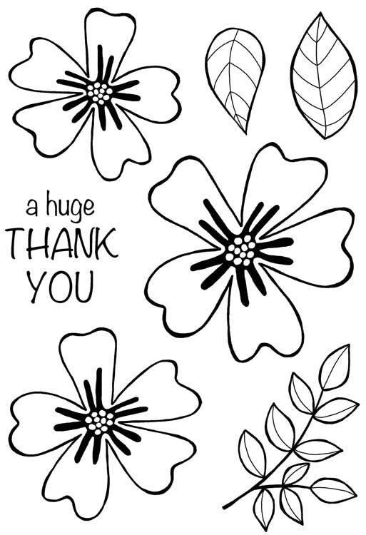 Woodware Clear Stamps - Bold Blooms Amanda