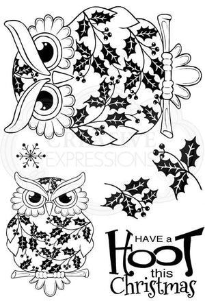 Woodware Clear Stamps - Christmas Owl