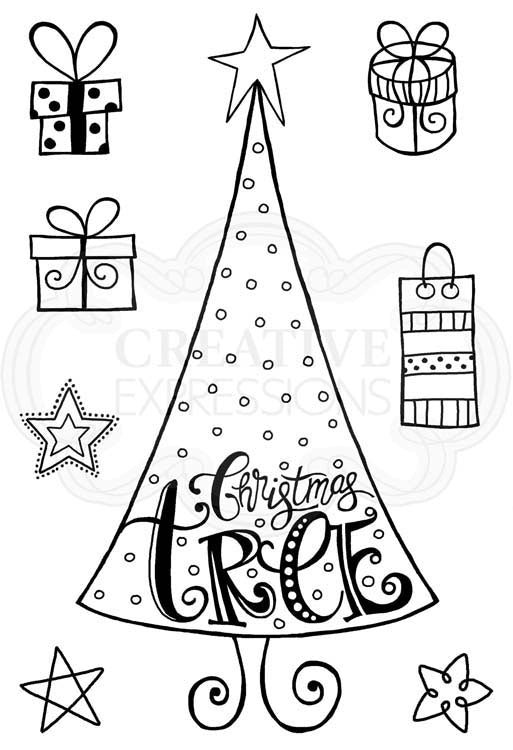 Woodware Clear Stamps - Dotty Tree