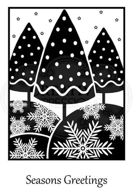 Woodware Clear Stamps - Framed Trees