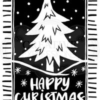 Woodware Clear Stamps - Lino Cut Christmas Tree