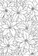Woodware Clear Stamps - Poinsettia Lace