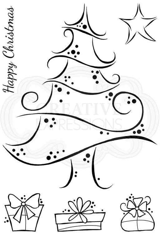 Woodware Clear Stamps - Swirly Tree