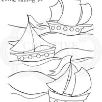 Woodware Clear Stamps - Three Ships