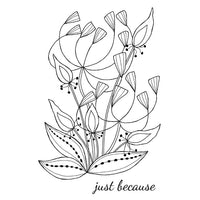 Woodware Clear Stamps - Bold Blooms - Heather