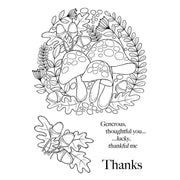 Woodware Clear Stamps - Toadstool Ring