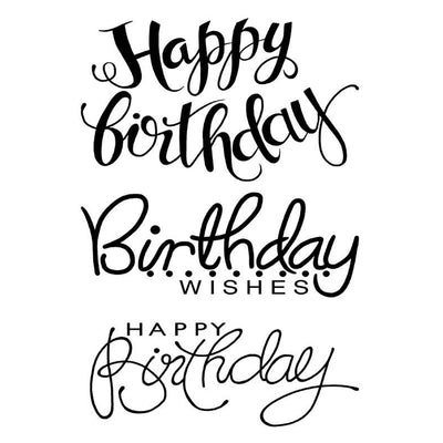 Woodware Clear Stamps - Big Birthday Words