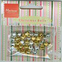 Card Charms- Bells - Silver/Gold
