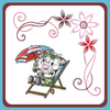 Embroidery Pattern - Sweeping Flower Corner