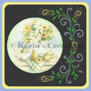 KC Embroidery Pattern - Flower Surrond