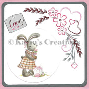 KC Embroidery Pattern - Flowers with Hearts