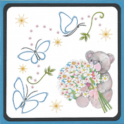 Embroidery Pattern - Trailing Butterflies