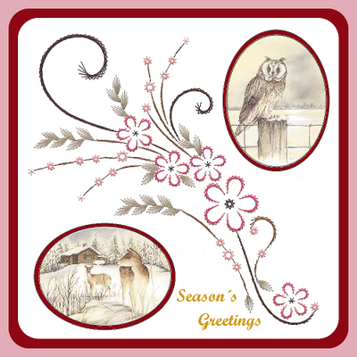 Embroidery Pattern - Center of the Season