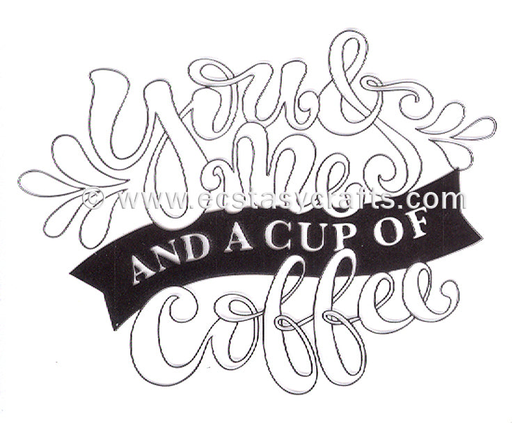 Marianne Design: Clear Stamp - Quote - You & Me And A Cup Of Coffee