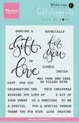 Marianne Design Stamps Giftwrapping: Gift of Love