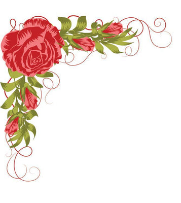 Nellie's Choice - Clear Stamp Layered Roses Corner