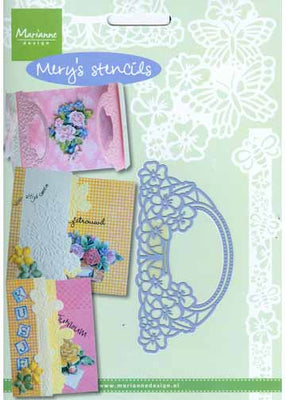 Mery's Stencils Pansies with Oval