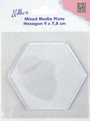 Nellie's Choice - Mixed Media Plate Hexagon