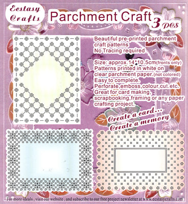 3 Parchment Patterns -Rectangle Frames