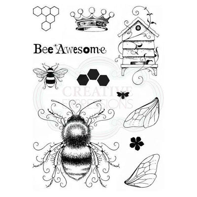 Pink Ink Designs A5 Clear Stamp Set Bee-utiful
