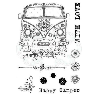 Pink Ink Designs A6 Clear Stamp Set - Camper