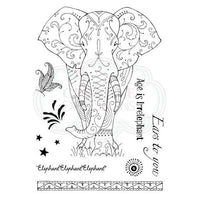 Pink Ink Designs A5 Clear Stamp Set Elephant