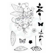 Pink Ink Designs A6 Clear Stamp Set Fairy Mouse