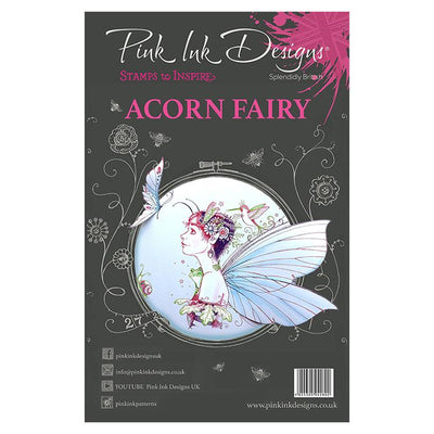 Pink Ink Designs A5 Clear Stamp Set Acorn Fairy