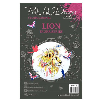 Pink Ink Designs A5 Clear Stamp Lion