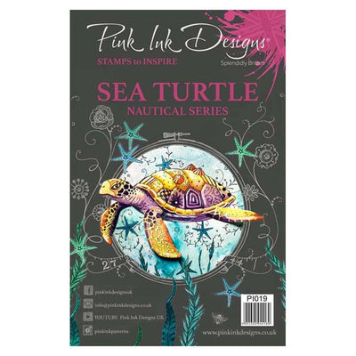 Pink Ink Designs A5 Clear Stamp Sea Turtle