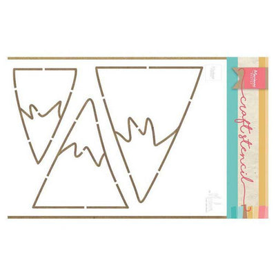 Marianne Design Craft Stencil Mountains By Marleen